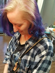 Purple, Blue, Blonde, highlights