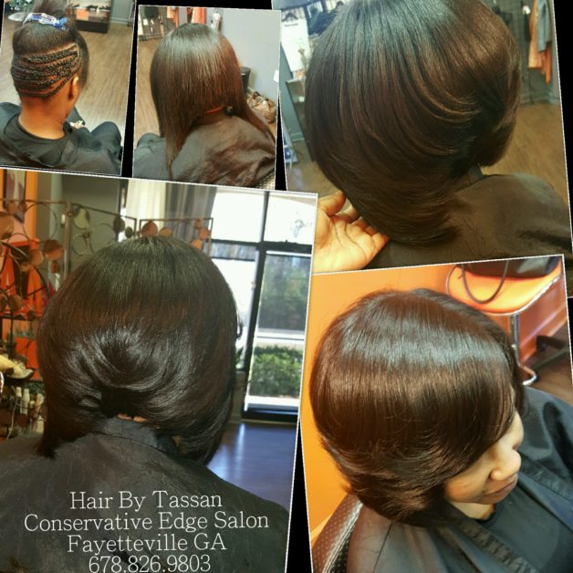 Partial Sew In Weave Conservative Edge Hair Salon