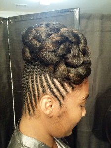 silk press, cut bob, black, flat iron, straighten, color, two strand twist, Mohawk, fohawk, cornrow, up-do