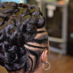 natural up-do, cornrows, twist out, braids