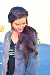 hair By Tassan purple pink green blue