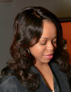 lace front, Silk base wig, make up