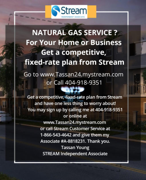 Need Gas Service in your home or business!  Get A Competitive Fixed Rate Plan From Stream