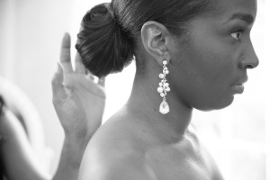 hair by tassan young wedding day